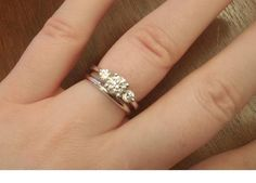 Wedding Bands For 3 Stone Engagement Rings Google Search See More Ring