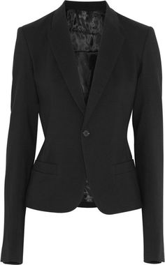 Tailored Wool Blend Twill Blazer