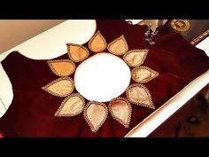 Patch Work Blouse Designs, Simple Blouse Designs, Stylish Blouse Design, Sari Blouse, Saree Blouse Neck Designs, Saris, Design Youtube, Bracelets Design, Embroidery Neck Designs