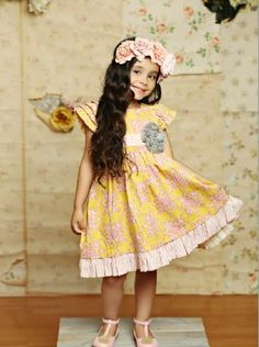 2015 Mustard Pie Delphine Party Dress Sunny - 2015 Easter Sessions
