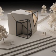 Architectural Concepts by Kosai Abohala A collection Interior Architecture Drawing, Architecture Jobs, Architecture Model Making, Concept Architecture, Origami Architecture, Casa Retro, Exposition Photo, Arch Model, 3d Studio