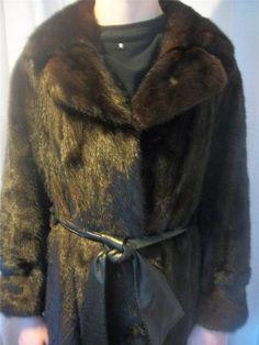 Luxurious Full Length Mahogany Dark Brown Mink Fur Coat Fab Princess s M L   eBay