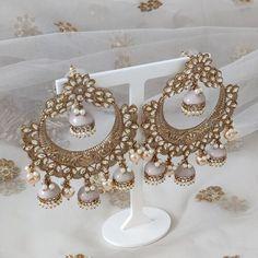 Jhumki Earrings, Indian Earrings, Indian Jewelry, Dangle Earrings, Silver Paint, Stone Painting, Statement Earrings, Pink And Gold, Desi
