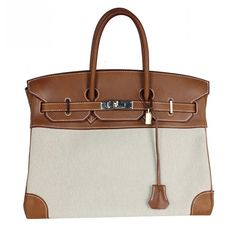 Hermes Noisette Swift 30cm Birkin Bag with Gold Hardware