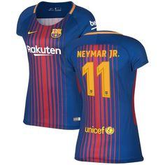 Neymar Santos Barcelona Nike Women's 2017/18 Home Stadium Replica Jersey - Royal
