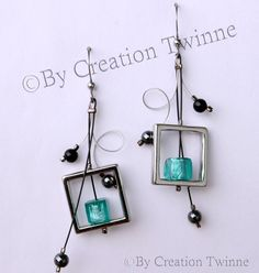 Diamond fashion jewelry builds up dirt and oil accumulation after a while. This accumulation comes from cold cream, hair styling products, dust, and even perspiration. Funky Earrings, Black Earrings, Turquoise Earrings, Earrings Handmade, Dangle Earrings, Bride Earrings, Bridesmaid Earrings, Bridesmaids, Modern Jewelry