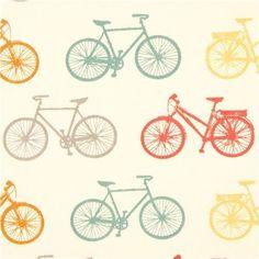 """Fahrrad Bio-Stoff  von birch Kollektion """"Commute"""" Design: Jay-Cyn Designs 100% organic cotton zertifizierter und mit umweltverträglichen Farbs..."""