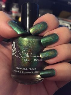 KBShimmer Pretty in Punk over Essie - Nothing Else Metals