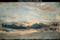 A Cloud Study, Sunset, c.1821 - John Constable - www.john-constable.org