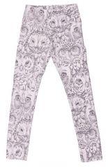 Soft garllery leggins med ugle print, str 3 år