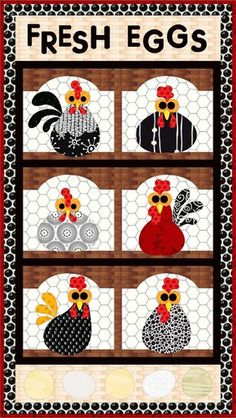 Fresh Eggs Quilt Pattern FCP-033-11 Main