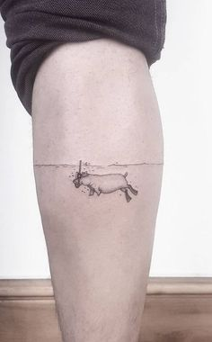 sloth tattoo - Small and Adorable Tattoos by Ahmet Cambaz from Istanbul Funny Small Tattoos, Small Tattoos For Guys, Funny Tattoos, Hippo Tattoo, Sloth Tattoo, Music Tattoos, Body Art Tattoos, New Tattoos, Tatoos