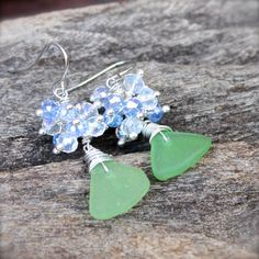 Sea Glass Earrings  Hawaiian Jewelry by MermaidTearsDesigns, $35.00 #hawaii #seaglass #earrings #beach