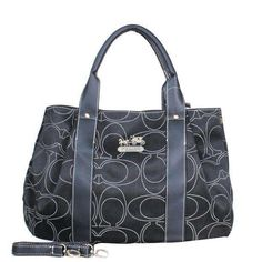 Coach Madison Logo Signature Medium Black Satchels DQJ Is Hottest And Cheapest, Welcome To Buy It!