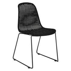MICKEY Black rattan dining chair | Buy now at Habitat UK