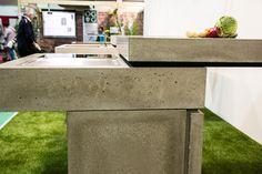 Messeauftritt #Blühendes Österreich in Wels-Concreto Outdoor Furniture Sets, Outdoor Decor, Dining Bench, Concrete, Kitchen, Design, Home Decor, Wels, Cooking