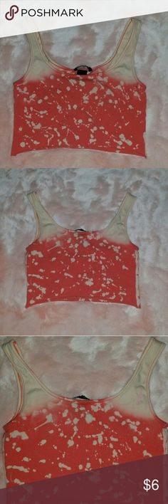 Splattered Crop Top Handmade Bleached Crop Top Design. Nice & Fitted. Super Cute.                  🚫 NO TRADES . ONLY POSHMARK                       ❤ OFFERS CONSIDERED ❤ H&M Tops Crop Tops