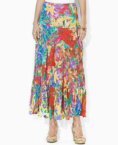 43d61b7606 Lauren by Ralph Lauren Chova One Shoulder Top & Moriah Tiered Maxi Skirt &  Reviews - Women's Brands - Women - Macy's