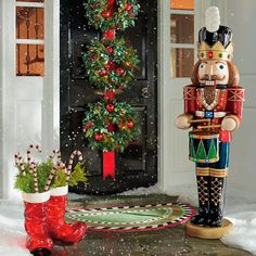 Get these amazing sales on outdoor christmas musical nutcracker - grandin road from Grandin Road Silver Christmas, Christmas Sale, Christmas Wreaths, Christmas Crafts, Christmas Ornaments, Merry Christmas, Victorian Christmas, Homemade Christmas, Christmas Christmas