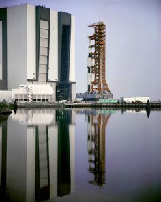 Saturn V emerges from VAB