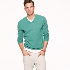 Would he go for it? Cashmere V-neck sweater