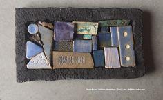 laure-bruas-tableau-cc3a9ramique-19x11-cm-c3a9tc3a9-bleu-cadre-noir.jpg (2462×1523)