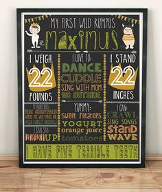 Where the wild things are birthday First Birthday Chalkboard Birthday Idas
