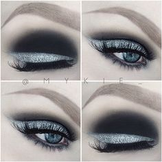 Kinda black tie, a little avant garde, definitely simple. Carbon by @maccosmetics all over the lid and blended into the crease, @cinemasecretspro white cream makeup as the liner, and White As Snow pigment by @maccosmetics pressed right on top of the white liner. Dem lashes are M101 by @eldorafalseeyelashes