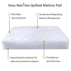 Guaranteed to Fit Up to 18 Inch Mattress Mattress Pad, Mattress Covers, Queen Size, Spa, Technology, Fitness, Tech, Fidget Quilt, Tecnologia