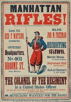 old civil war recruitment poster