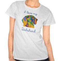I love my Dachshund Women's T-Shirt