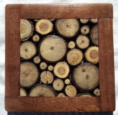 Wood Slice Trivet and Coasters, could even make a Table Top.