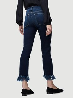 Cropped Fringed Jeans by Frame Frame Store, Denim Jeans, Skinny Jeans, Denim Branding, Denim Outfit, Pants, Shopping, Clothes, Collection