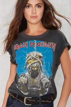 Vintage Iron Maiden World Slavery '85-'86 Tour Tee   Shop Product at Nasty Gal!