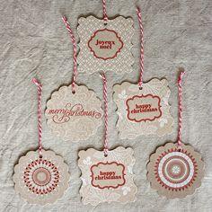 lovely letterpress christmas gift tags #letterpress #BespokePress