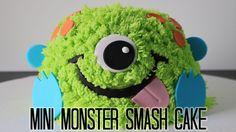 Mini Monster Smash Cake! - YouTube                                                                                                                                                                                 More