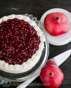 The Pomegranate Christmas Cake. Layers of delicious goodness #ChristmasCake