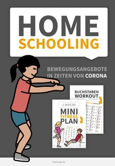 Bewegungsangebote in Zeit von Corona – Sabine Beyer Home Schooling, Quote Aesthetic, Good Vibes Only, Workout Challenge, Public School, Kindergarten, Challenges, Teaching, How To Plan