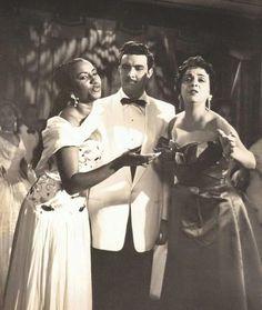 Celia Cruz with Ester Borja and Isidro Camara in Cuba circa 1950s.