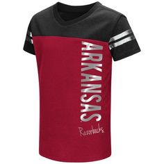 Colosseum Athletics Toddlers' University of Arkansas Cricket T-shirt (Red Medium, Size 2 Toddler) - NCAA Licensed Product, NCAA Youth Apparel at Ac...