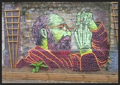 Discover the amazing world of graffiti art, free walls, urban art & unique street art on Mr Pilgrim featuring some of the best street artists online Urban Graffiti, Street Art Graffiti, Outdoor Sculpture, Outdoor Art, Street Mural, Best Street Art, Pet Memorials, Street Artists, Pilgrim