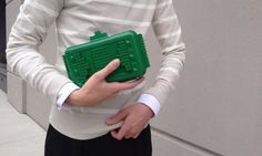 Complete your look by making your own Lego clutch.