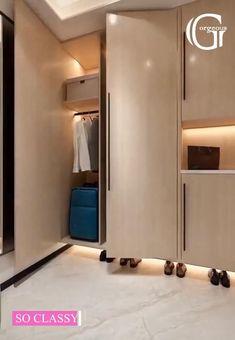 Small Room Design Bedroom, Bedroom Cupboard Designs, Bedroom Furniture Design, Home Room Design, Home Decor Furniture, Smart Home Design, Small House Interior Design, Wardrobe Door Designs, Dressing Room Design