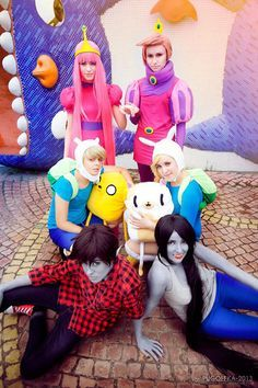 Both Genders for Adventure Time characters! How awesome Cosplay Anime, Epic Cosplay, Cosplay Makeup, Amazing Cosplay, Cosplay Outfits, Cosplay Costumes, Cosplay Ideas, Cosplay Style, Adventure Time Cosplay