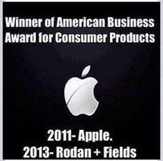 Rodan + Fields... winning the same awards as companies like APPLE!! Ready to join yet? dparker4269@gmail.com
