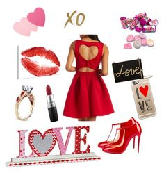 """Valentine's Date"" by janeadele ❤ liked on Polyvore featuring Charlotte Russe, Christian Louboutin, Sephora Collection, Lanvin, Casetify, MAC Cosmetics, xO Design, women's clothing, women's fashion and women"