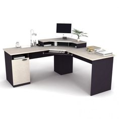 Fresco of Creative Design of Corner Desk for Computer Set