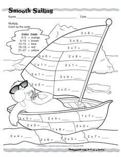 Smooth Sailing, Lesson Plans - The Mailbox Math Games, Math Activities, Ks1 Maths, Math Sheets, Math Talk, Alphabet For Kids, Basic Math, 3rd Grade Math, Math For Kids