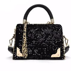 Cheap bags handbags, Buy Quality shoulder bags directly from China cross shoulder bags Suppliers: kai yunon Women Sequin Leopard Messenger Cross Shoulder Bag Handbag HandBag Sep 7 Cross Shoulder Bags, Shoulder Handbags, Leather Shoulder Bag, Black Handbags, Luxury Handbags, Leather Handbags, Designer Handbags, 2017 Handbags, Fashion Handbags