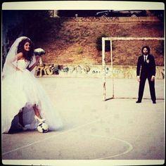 Photo de mariage #football